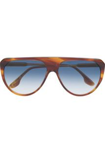 Victoria Beckham Óculos De Sol Aviador Vb600S - Marrom