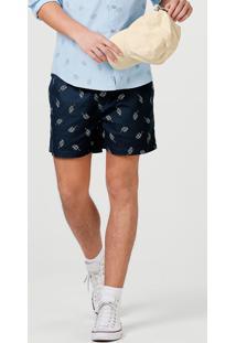 Shorts Curto Masculino Em Tecido Estampado