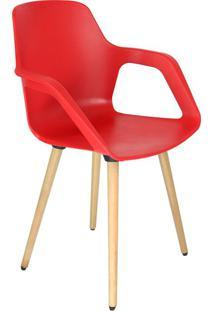 Cadeira De Cozinha Beau Com Braço Vermelha