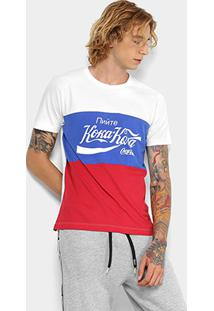 Camiseta Manga Curta Coca-Cola Masculina - Masculino-Branco
