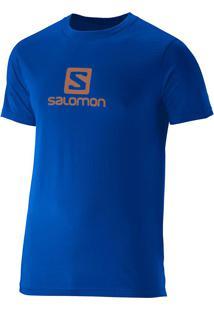Camiseta Salomon Masculina Logo Youder Azul Egg