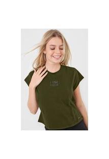 Camiseta Colcci A Vida É Simples Verde