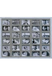 Painel De Fotos Bee Collection 73X93 Rustics 30 Fotos 10X15 Branco Kapos