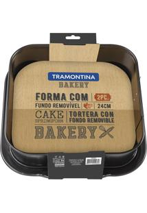 Forma Para Bolo 24Cm Bakery Cinza 27814014 Tramontina