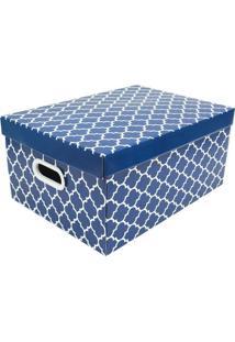 Caixa Organizadora Para Closet G Baby Desmontável- Azul Boxmania