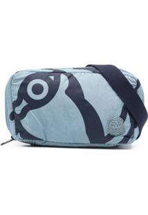 Kenzo Pochete Com Patch De Logo - Azul