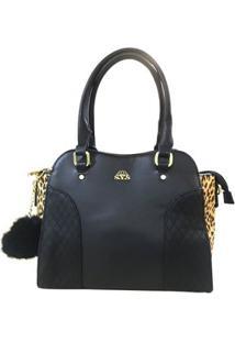 Bolsa Baú Sys Fashion 8528 - Feminino-Preto