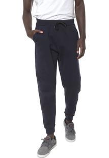 Calça Moletom Element Jogger Basic Logo Azul-Marinho