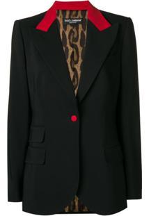 Dolce & Gabbana Blazer Com Acabamento Vermelho - Preto