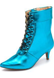 Bota Casual Bico Fino Gisela Costa Azul - Tricae