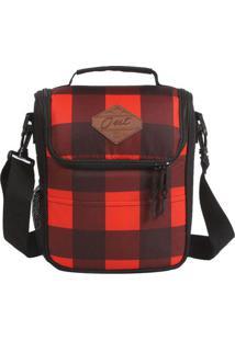 Bolsa Térmica Xadrez - Vermelha & Preta - 29X22X10Cmdermiwil