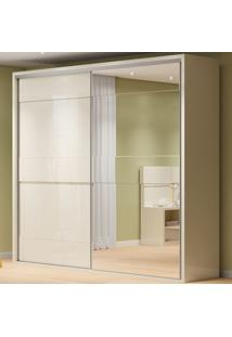 Guarda-Roupa Casal 2 Portas 4 Gavetas 100% Mdf Tw203E Off White - Dalla Costa
