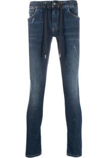 Dolce & Gabbana Drawstring Skinny Jeans - Azul