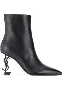 Saint Laurent Ankle Boot Opyum - Preto