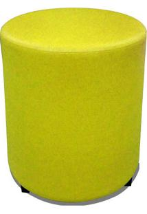 Puff Round Madeira Corano Amarelo - Markine Mobilier