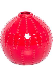 Vaso Redondo Vermelho