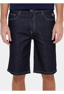 Bermuda Jeans Cavalera Super Escura Masculina - Masculino