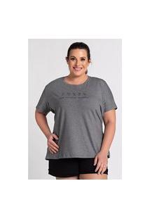 """T-Shirt Feminina Plus Size Estampada """"Grow Positive Thoughts"""""""" - Serena"""""""