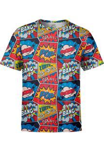 Camiseta Estampada Over Fame Retro Pop Arte Multicolorida
