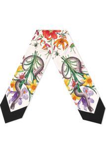 Gucci Lenço De Pescoço Blooms - Neutro