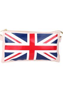 Bolsa Carteira Real Arte Bandeira Uk Branca