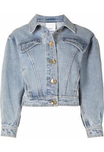Acler Saia Jeans Florence - Azul