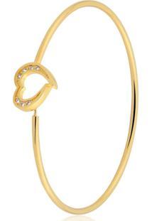 Pulseira Toque De Joia Bracelete Coração Dourado