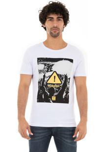 Camiseta Ksa Da Árvore Warning Branca