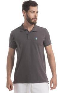 Camisa Polo Piquet Zaiden Style S1 Masculina - Masculino-Cinza