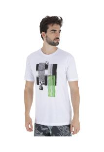 Camiseta Volcom Pixel Fade - Masculina - Branco