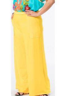 Calça Almaria Plus Size Munny Pantalona Lisa Amare