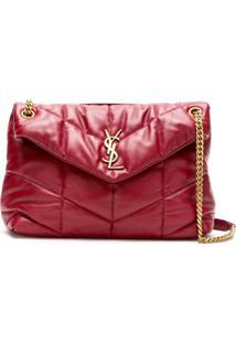 Saint Laurent Bolsa Pequena Com Monograma Loulou - Vermelho