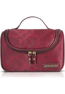 Necessaire Com Gancho Damasco - Jacki Design - Feminino