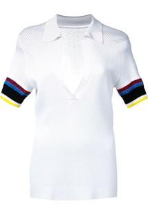 Proenza Schouler Camisa Polo De Tricô Color Block - Branco 9e19eac94633c