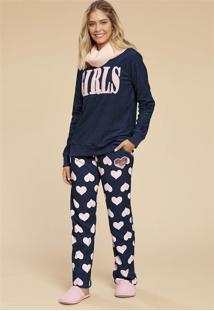Pijama Feminino Soft Girls 014918 Mensageiro Dos Sonhos
