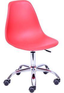 Cadeira Para Escritório Com Rodízio 1102R-Or Design - Telha