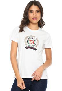 Camiseta Tommy Hilfiger Merina Branca