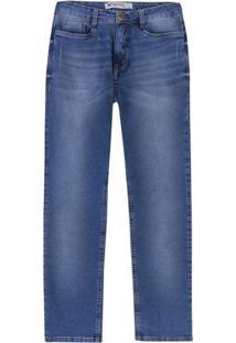 Calça Jeans Masculina Slim Em Algodão Com Lavação