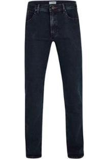 Calça Jeans Pierre Cardin Malha Denim Masculina - Masculino-Marinho