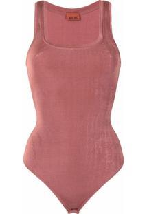 Alix Nyc Body Decote Quadrado - Vermelho