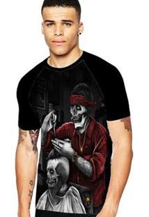 Camiseta Stompy Raglan Modelo 133 Masculina - Masculino-Preto