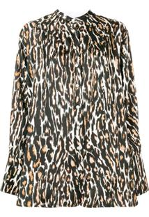Calvin Klein 205W39Nyc Blusa Com Estampa Leopardo - Preto