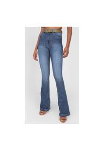 Calça Jeans Lez A Lez Flare Malibu Azul