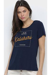 Camiseta Mob Kalahari Feminina - Feminino-Azul
