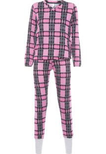Pijama Feminino Rafaela - Rosa