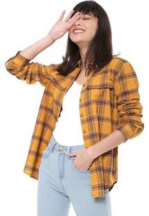 Camisa Colcci Xadrez Amarela