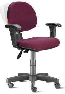Cadeira Ergonômica Nr17 Executiva Crepe Vermelho Escuro