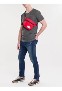 Pochete Ckj Masc Quadrada Logo - Vermelho - U