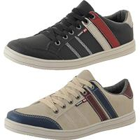 93d182291b6 Kit Tênis Sapatenis Cr Shoes Leve E Baixo Lançamento Preto E Bege