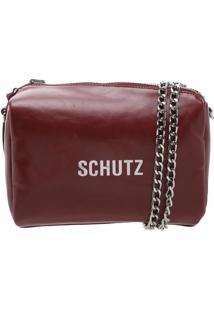 "Bolsa Transversal ""Schutz®"" Dupla Face - Bordô Amarelaschutz"